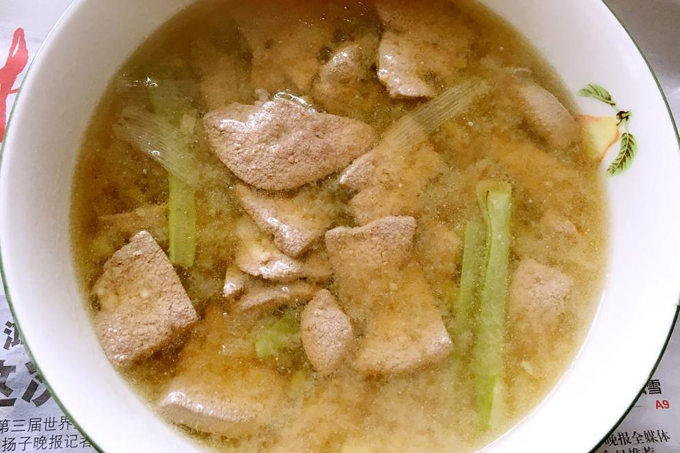 Home Cooking Recipe: Ginger pig liver soup