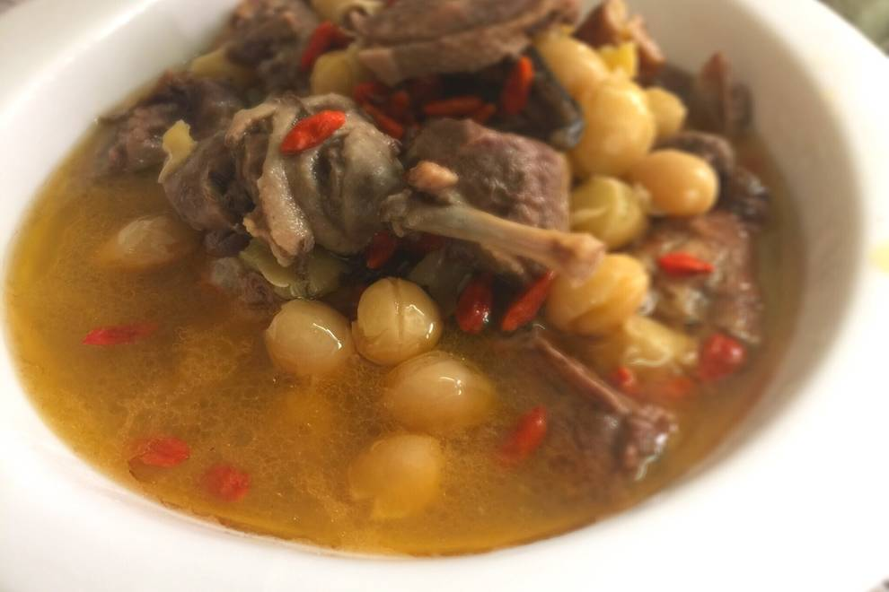 Home Cooking Recipe: Ginkgo Duck Soup
