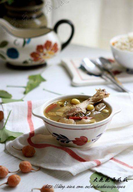 Home Cooking Recipe: Ginkgo radish duck soup