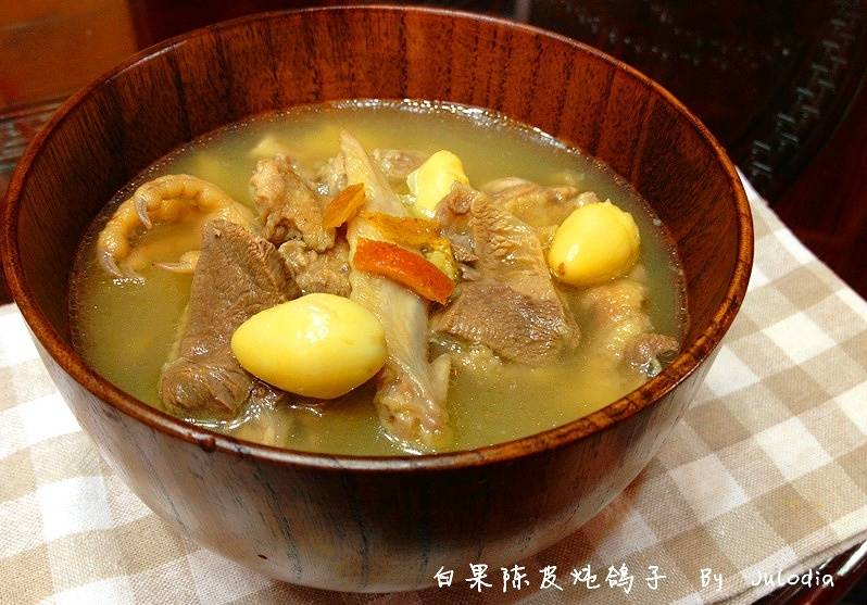 Home Cooking Recipe: Ginkgo tangerine stewed pigeon