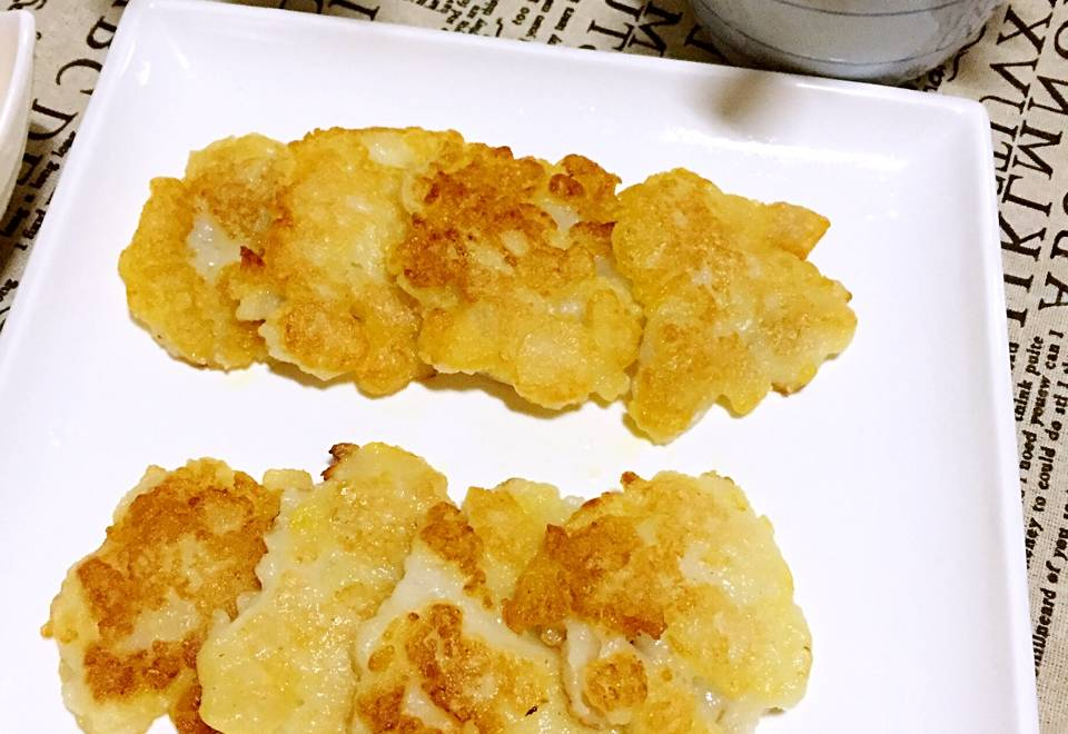 Home Cooking Recipe: Glutinous rice fried pear