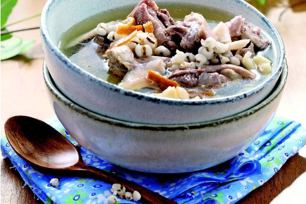 Home Cooking Recipe: Glutinous rice tangerine peel duck soup