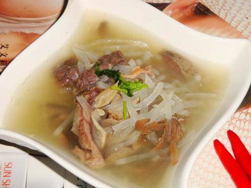 Home Cooking Recipe: Goat radish soup