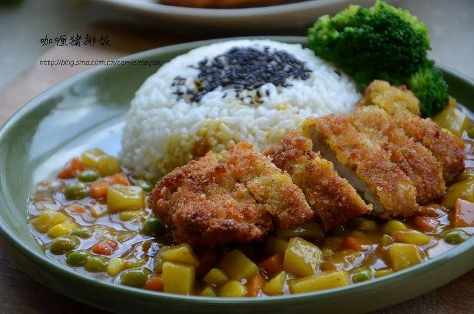 Home Cooking Recipe: Gold curry pork chop rice