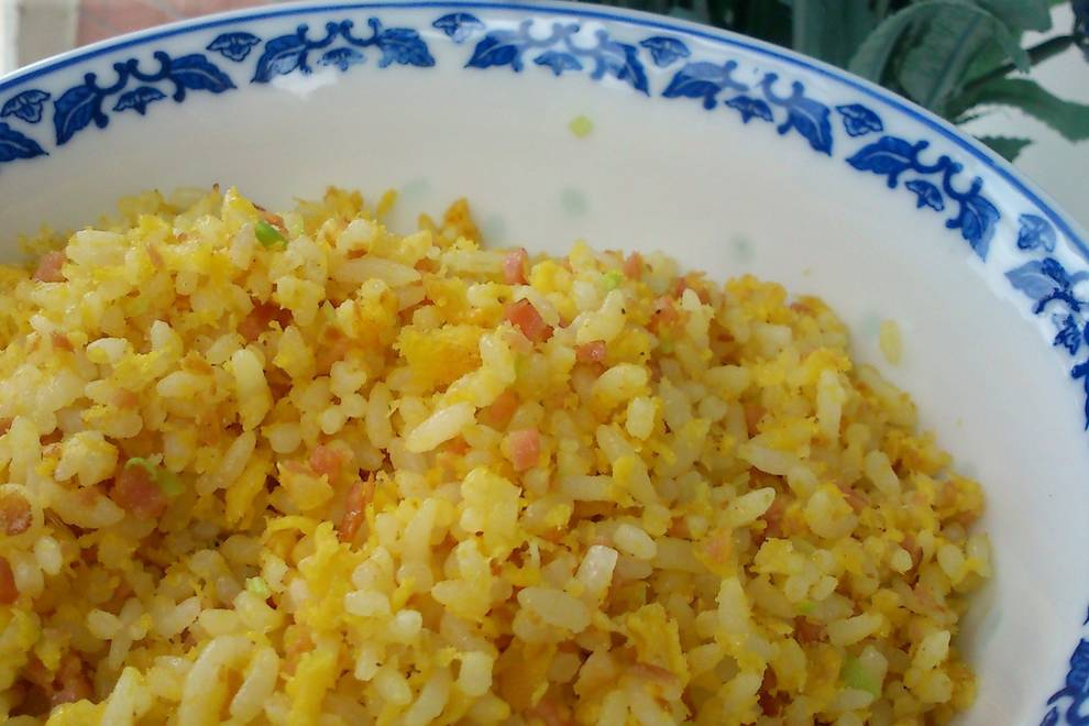 Home Cooking Recipe: Golden ham egg fried rice