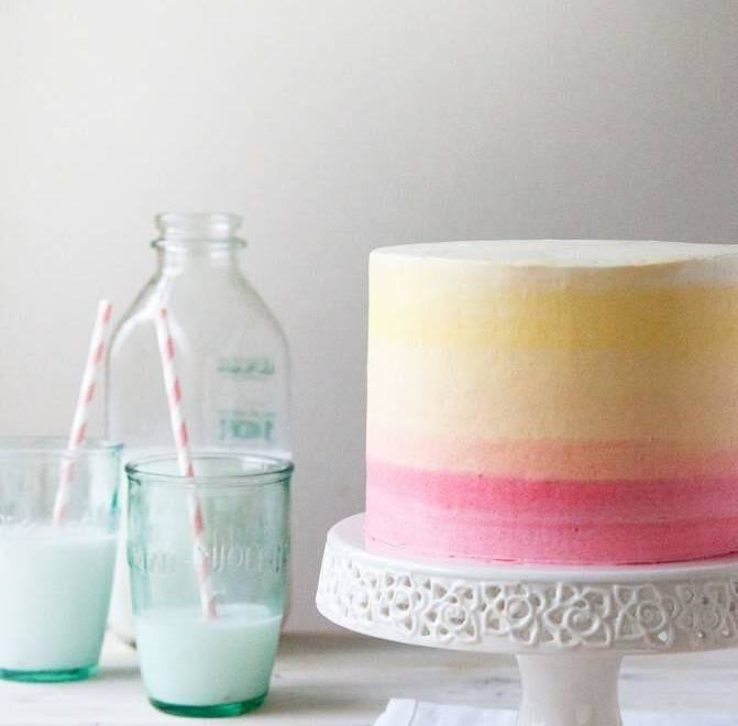 Home Cooking Recipe: Gradient cream cake