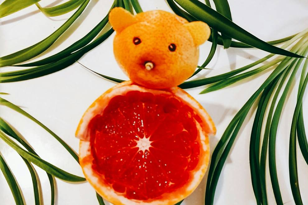 Home Cooking Recipe: Grapefruit bear