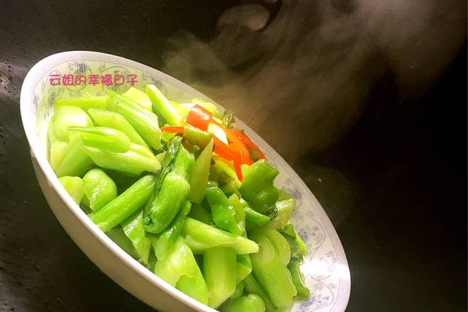 Home Cooking Recipe: Green color, crisp taste, no big burden on eating a large plate