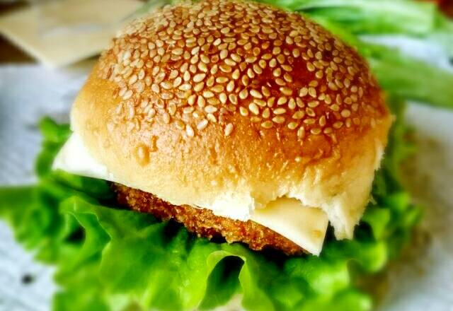 Home Cooking Recipe: Homemade chicken burger