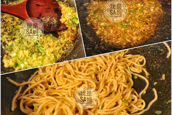 Home Cooking Recipe: If you want to fry the minced meat, start another pot. Stir the minced meat and add the green pepper or the colored pepper (optional) plus a teaspoon of soy sauce or soy sauce. I didn't put the minced meat on my second time.