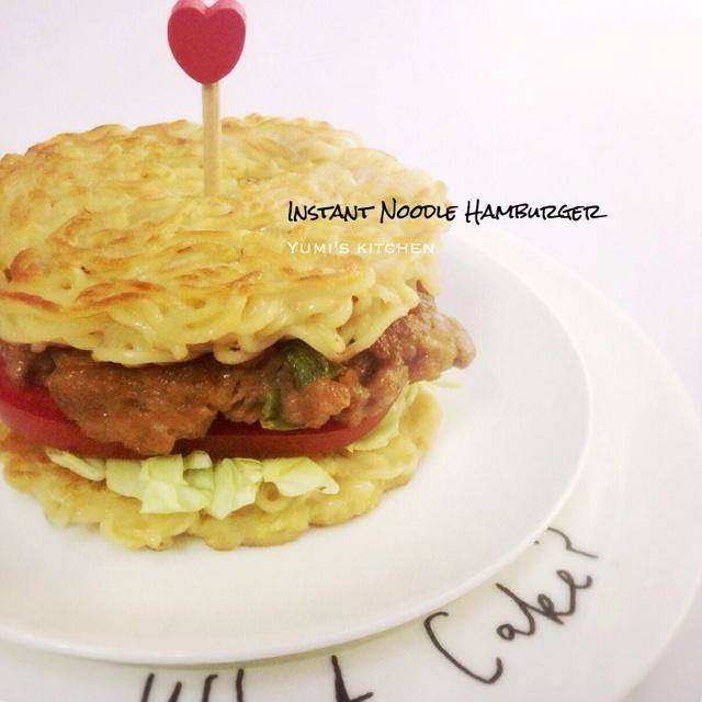 Home Cooking Recipe: Instant noodle burger instant noodle burger