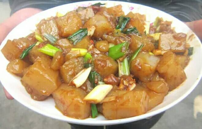 Home Cooking Recipe: Kaifeng fried jelly (see my recipe)