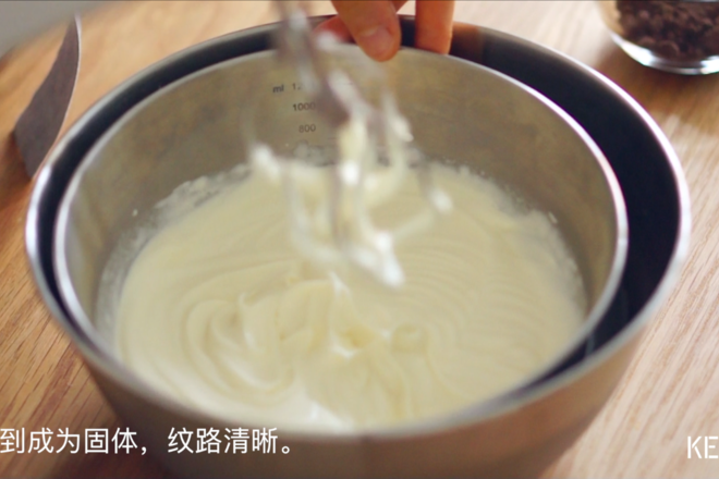 Home Cooking Recipe: Light cream is added to the sugar and salt until it becomes solid and the lines are clear.
