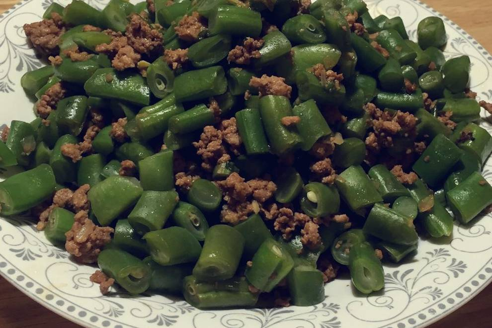 Home Cooking Recipe: Moon meal: minced meat beans