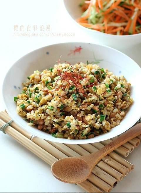 Home Cooking Recipe: Natto fried rice