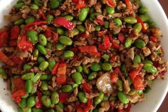 Home Cooking Recipe: Next meal, minced meat, edamame