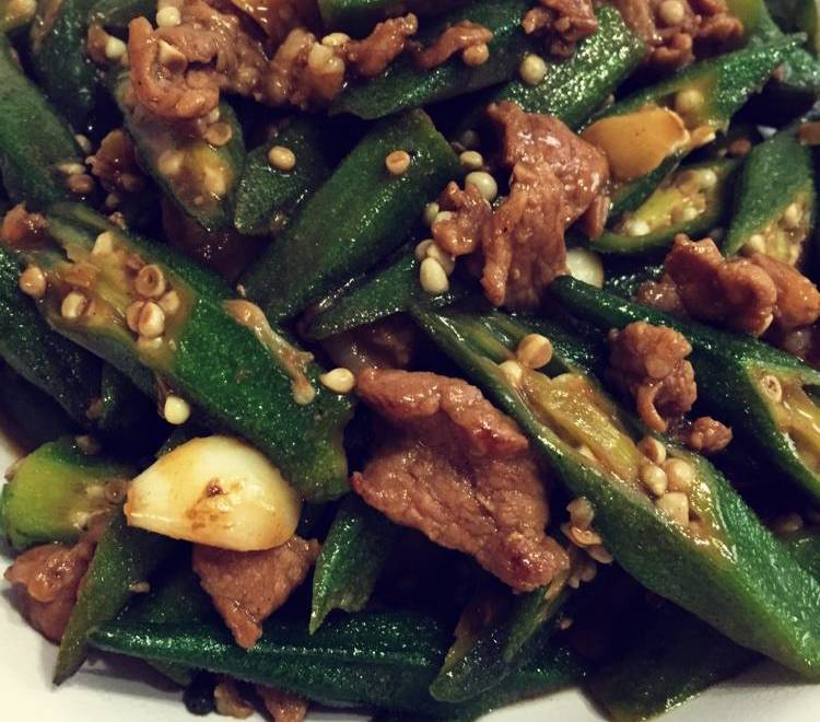 Home Cooking Recipe: Okra fried meat