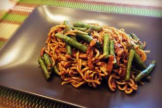 Home Cooking Recipe: Old Beijing lentils noodles
