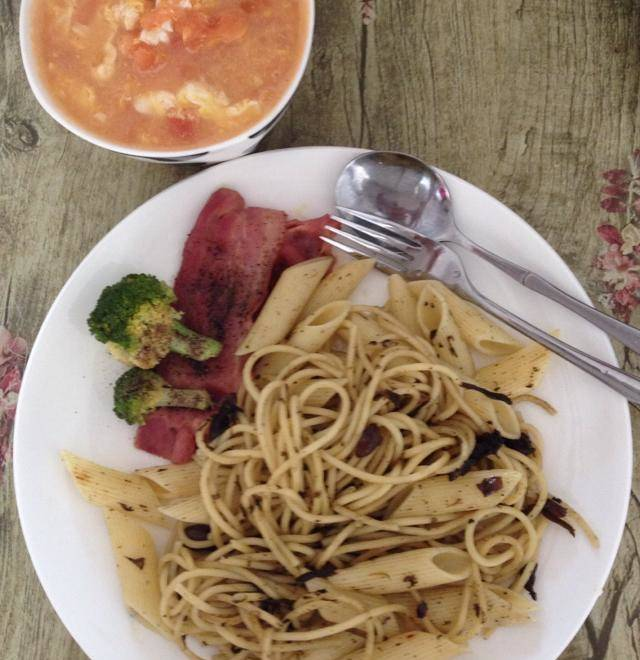 Home Cooking Recipe: Olive vegetable pasta