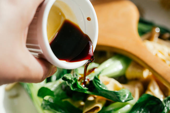 Home Cooking Recipe: One tablespoon soy sauce.