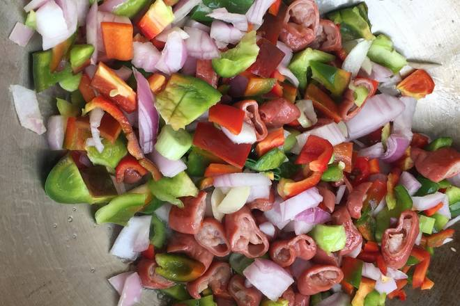Home Cooking Recipe: Other vegetables, onions, garlic, put