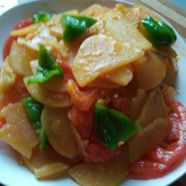 Home Cooking Recipe: Playboy (green pepper, fried potato chips)