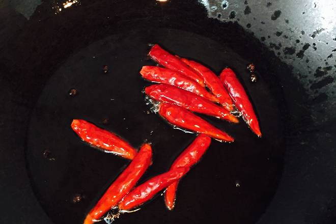 Home Cooking Recipe: Pop dry pepper