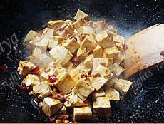 Home Cooking Recipe: Pour in tofu and stir well