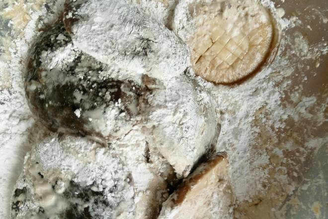 Home Cooking Recipe: Pour into raw flour and mix well