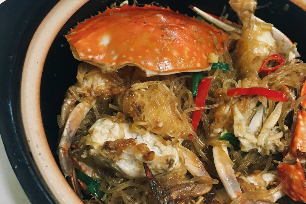 Home Cooking Recipe: Private house. Crab meat fan 煲