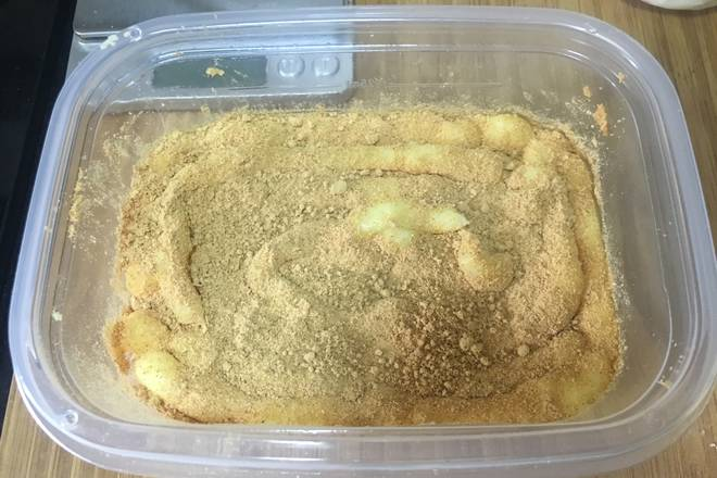 Home Cooking Recipe: Screen a layer of soy flour.