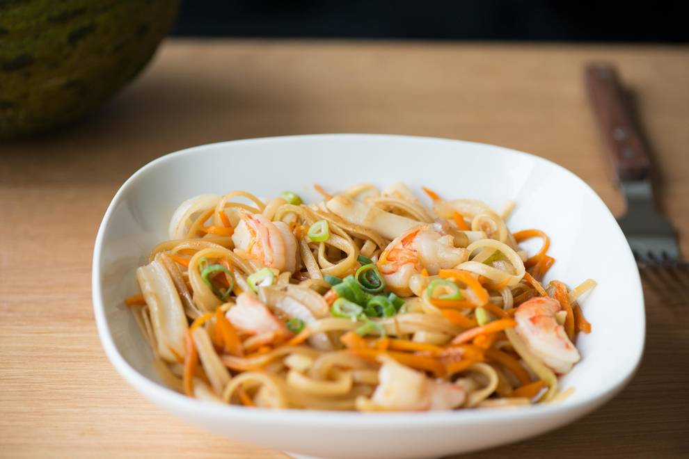 Home Cooking Recipe: Seafood fried noodles