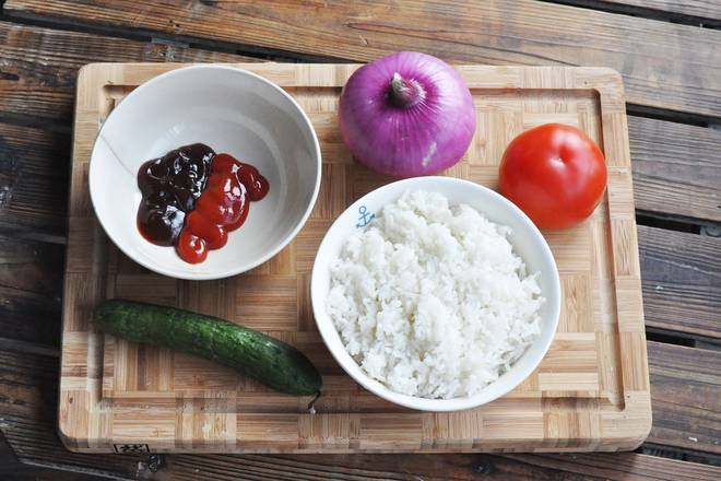 Home Cooking Recipe: Seasoning: use oyster sauce + tomato sauce, preferably leftover rice