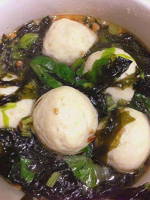 Home Cooking Recipe: Seaweed fish ball soup