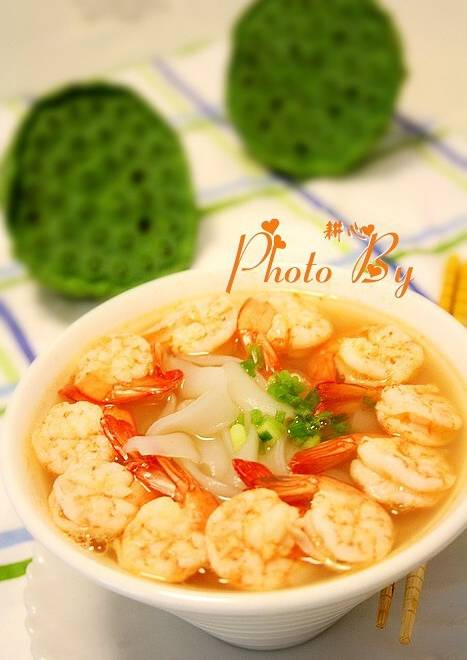 Home Cooking Recipe: Shrimp river powder soup