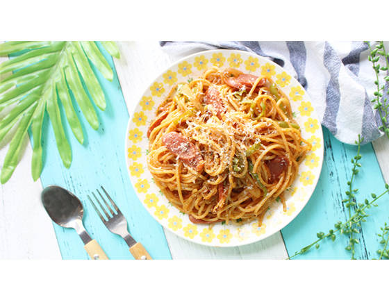 Home Cooking Recipe: Spaghetti with tomato sauce