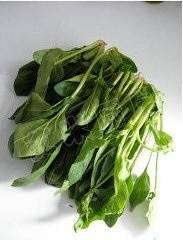 Home Cooking Recipe: Spinach washed and picked yellow leaves