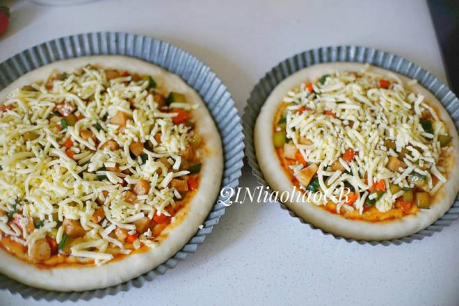 Home Cooking Recipe: Sprinkle with a small amount of cheese, a little pizza, no need to put