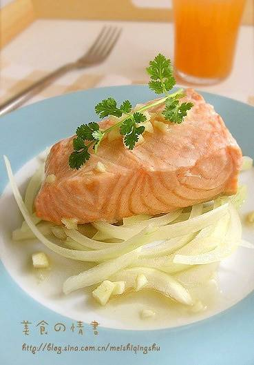 Home Cooking Recipe: Steamed salmon