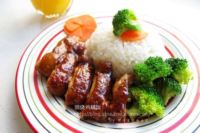 Home Cooking Recipe: Teriyaki chicken leg rice