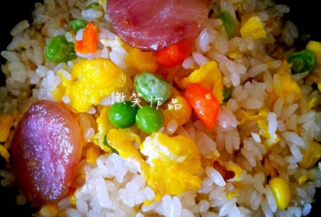 Home Cooking Recipe: The fragrant fried rice is out of the pan!