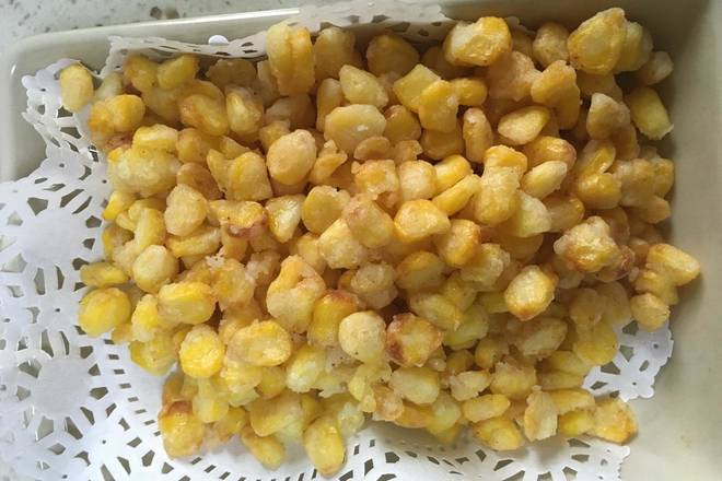 Home Cooking Recipe: The fried corn kernels are like this drop.