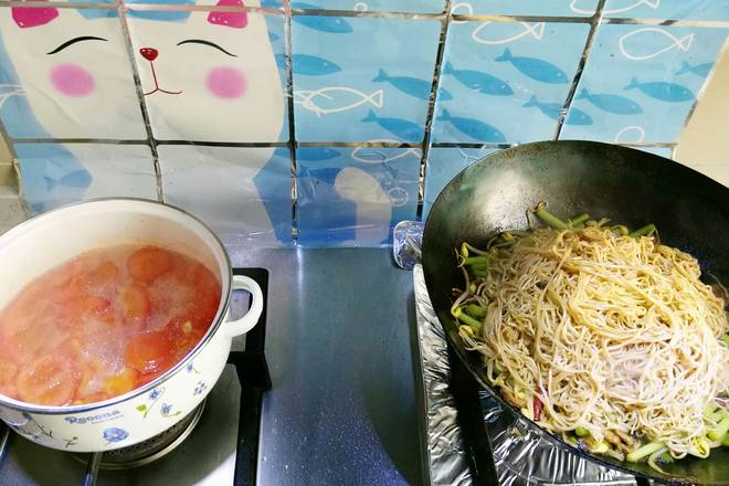 Home Cooking Recipe: The noodle soup received almost a small fire