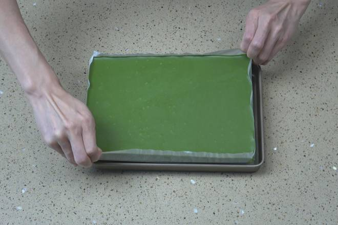 Home Cooking Recipe: The same is true for the matcha flavor, which is taken out from the mold after freezing.