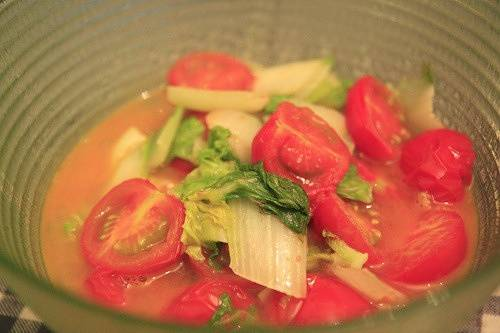 Home Cooking Recipe: Tomato, Chinese cabbage