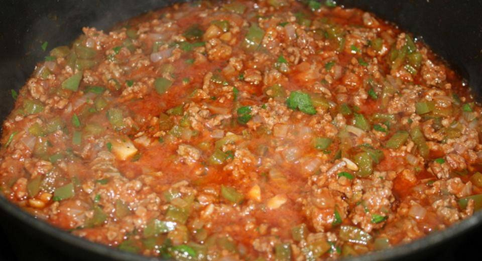 Home Cooking Recipe: Tomato green pepper beef minced