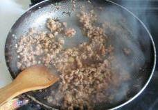 Home Cooking Recipe: Until the minced meat is fried and discolored
