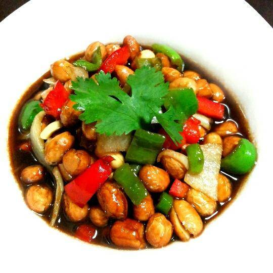 Home Cooking Recipe: Vinegar soaked peanuts