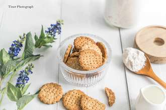 Whole wheat digestive biscuits (sugar reduction oil)