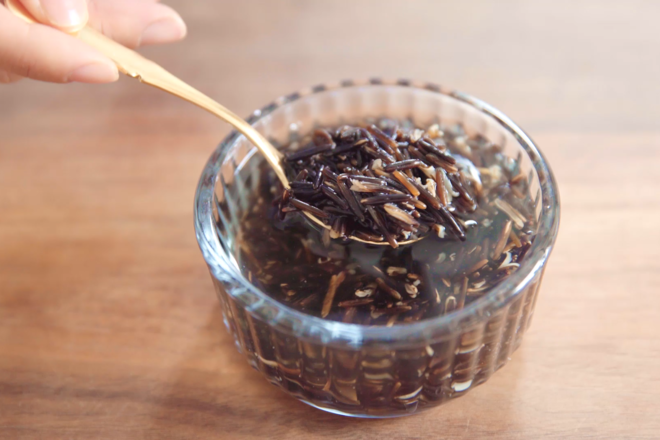 Home Cooking Recipe: Wild rice soaked overnight to slightly split